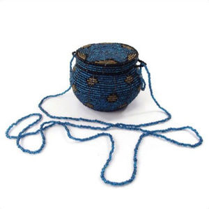 VTG 70's Glass Beaded Wire Stash Sak Medicine Bag